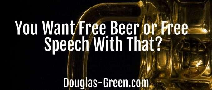 free beer or free speech