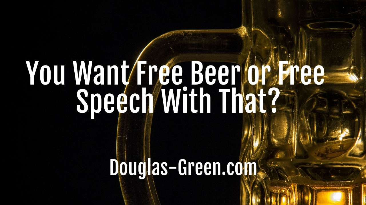 free beer or free speech